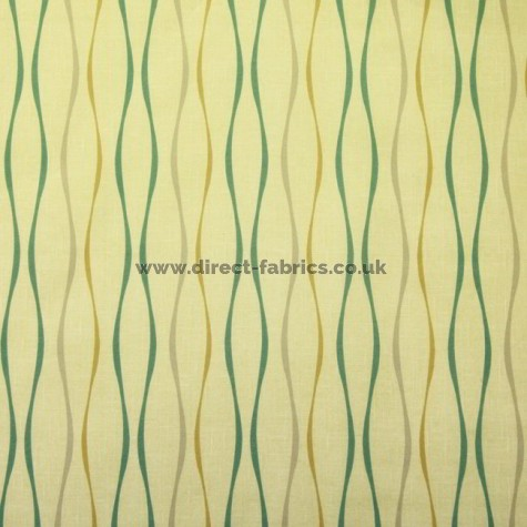 Toro 318 Maize Teal Fire Resistant roman blinds