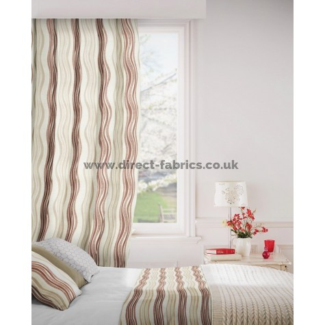 Twist 800 Beige Curtains Room Shot Mock up