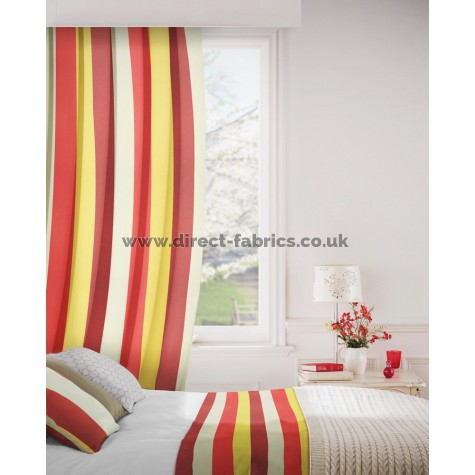 Verano 441 Red Amber Curtains Room Shot Mock up