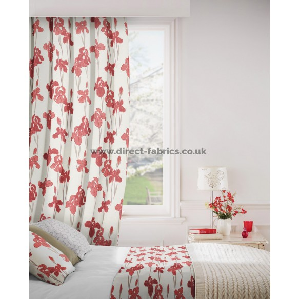 Amelia 400 Red Fire Resistant Curtains
