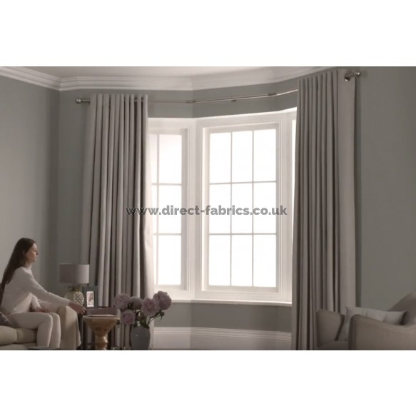 3 Sided Bay Window Eyelet Curtain Pole, How To Measure Curtain Size For Bay Window