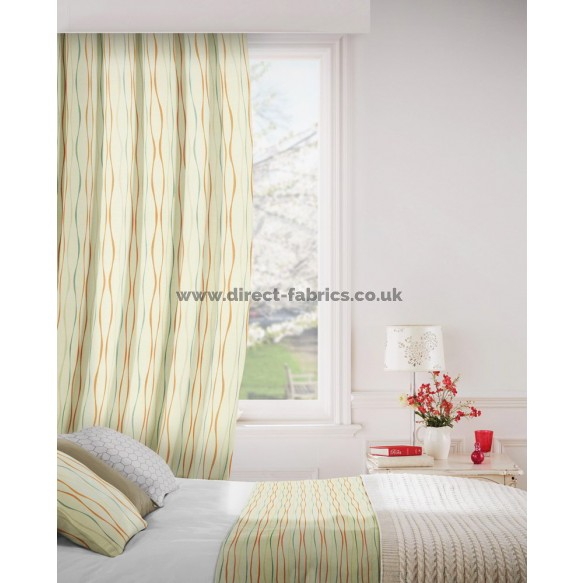 Toro 601 Coral Blue Curtains Room Shot Mock up