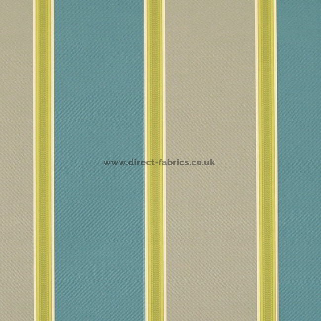 Capital Stripe 289 Teal Latte Fire Resistant Roman Blinds