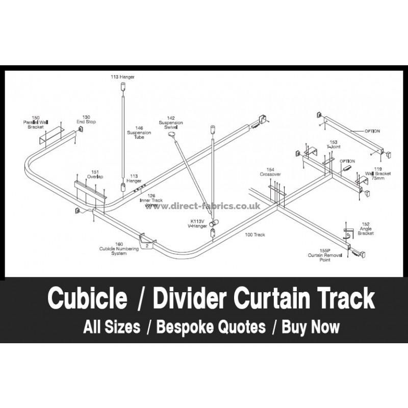 anti ligature cubicle curtain tracks