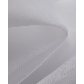 Flame Retardant White Voile Curtains 2 Heading Options