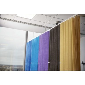 Disposable Cubicle Curtains - Antibacterial - FR - 4 Colours - 2 Hanging Choice 7.5m Wide x 2m Drop