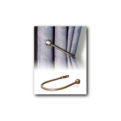 Ball Hold Back Pk2 Antique Brass