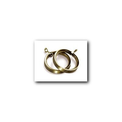 35mm Lined Rings Pk8 Antique Brass
