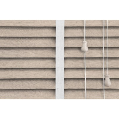 Venetian Blinds Wood Calico Snow Ladder Tape