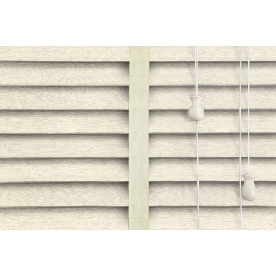 Venetian Blinds Wood Cream Embossed Chiffon Ladder Tape