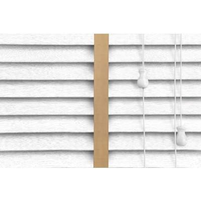 Venetian Blinds Wood White Embossed Gold Ladder Tape