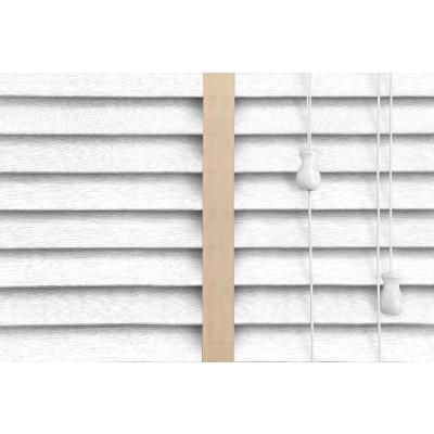 Venetian Blinds Wood White Embossed Malt Ladder Tape
