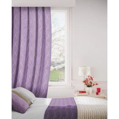 Austen 647 Mulberry Tan Curtains Room Shot Mock up