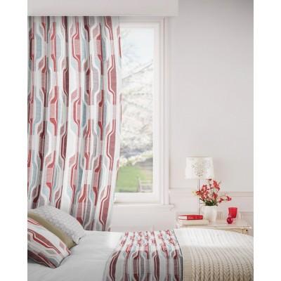 Balance 478 Red Mink Curtains Room Shot Mock up