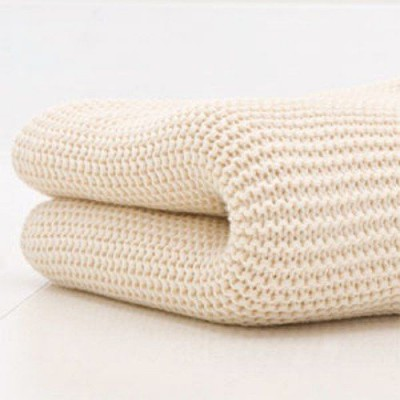 Cream Cellular Blanket