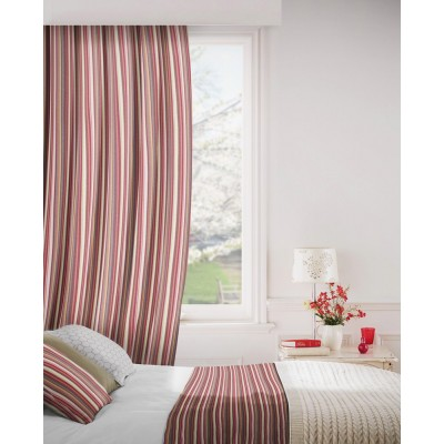 Dandy 488 Damson Oatmeal Curtains Room Shot Mock up