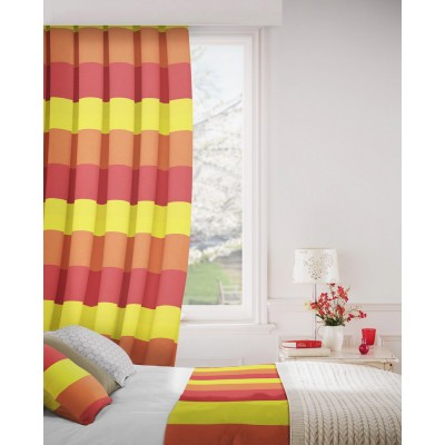 Escape 433 Red Yellow Curtains Room Shot Mock up