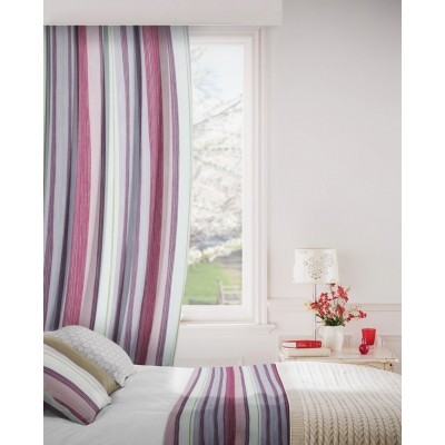 Fresco 481 Damson Curtains Room Shot Mock up