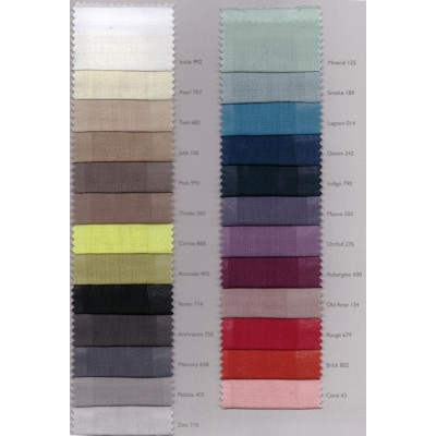 Colour Card - Illusion Flame Retardant Linen Curtain Fabric
