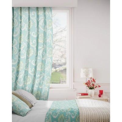 Isabella 134 Sky Curtains Room Shot Mock up