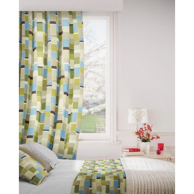 Jitterbug 237 Lime Flax Curtains Room Shot Mock up
