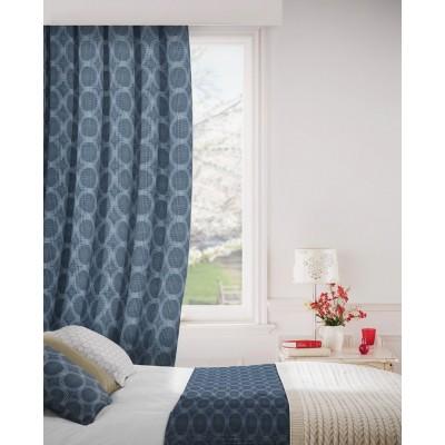 Logic 100 Blue Curtains Room Shot Mock up
