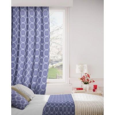 Logic 107 Cornflower Curtains Room Shot Mock up