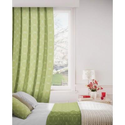 Logic 226 Lime Curtains Room Shot Mock up