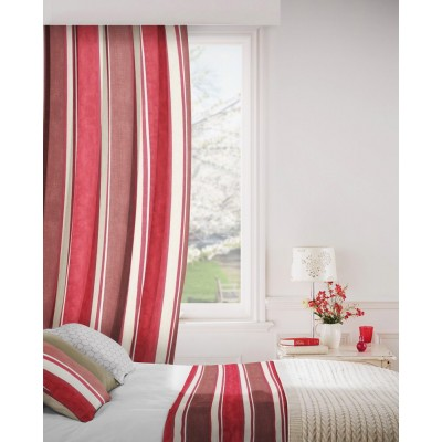 Midsummer 488 Damson Oatmeal Curtains Room Shot Mock up