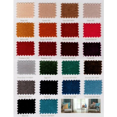 Regency Velvet Flame Retardant Curtains Colour Card 1