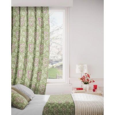 Oakley 239 Olive Stone Curtains Room Shot Mock up