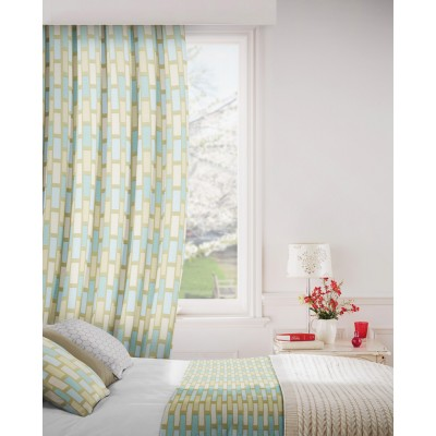 Plaza 158 Duck Egg Cream Curtains Room Shot Mock up