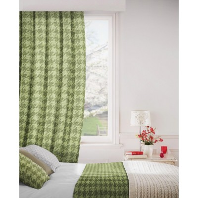Stella 231 Olive Curtains Room Shot Mock up