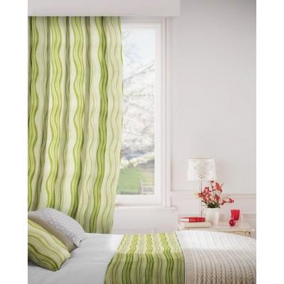 Twist 237 Lime Flax Curtains Room Shot Mock up