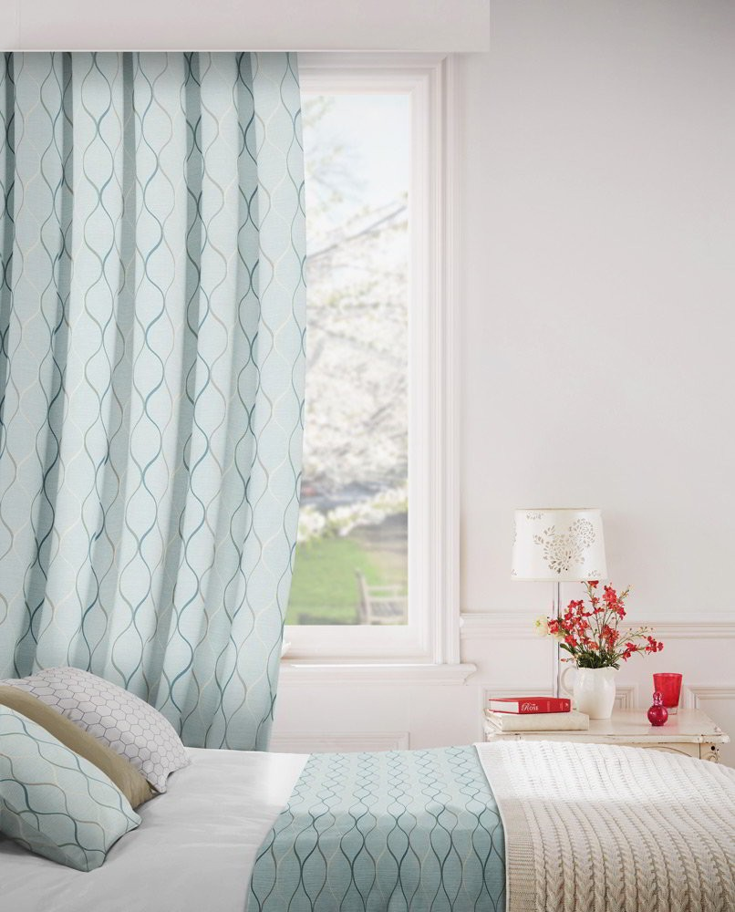 Austen 134 Sky Fire Resistant Curtains