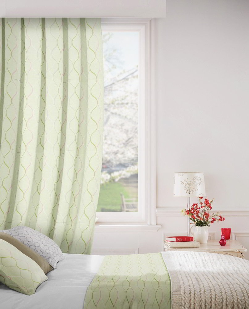 Austen 222 Apple Fire Resistant Curtains