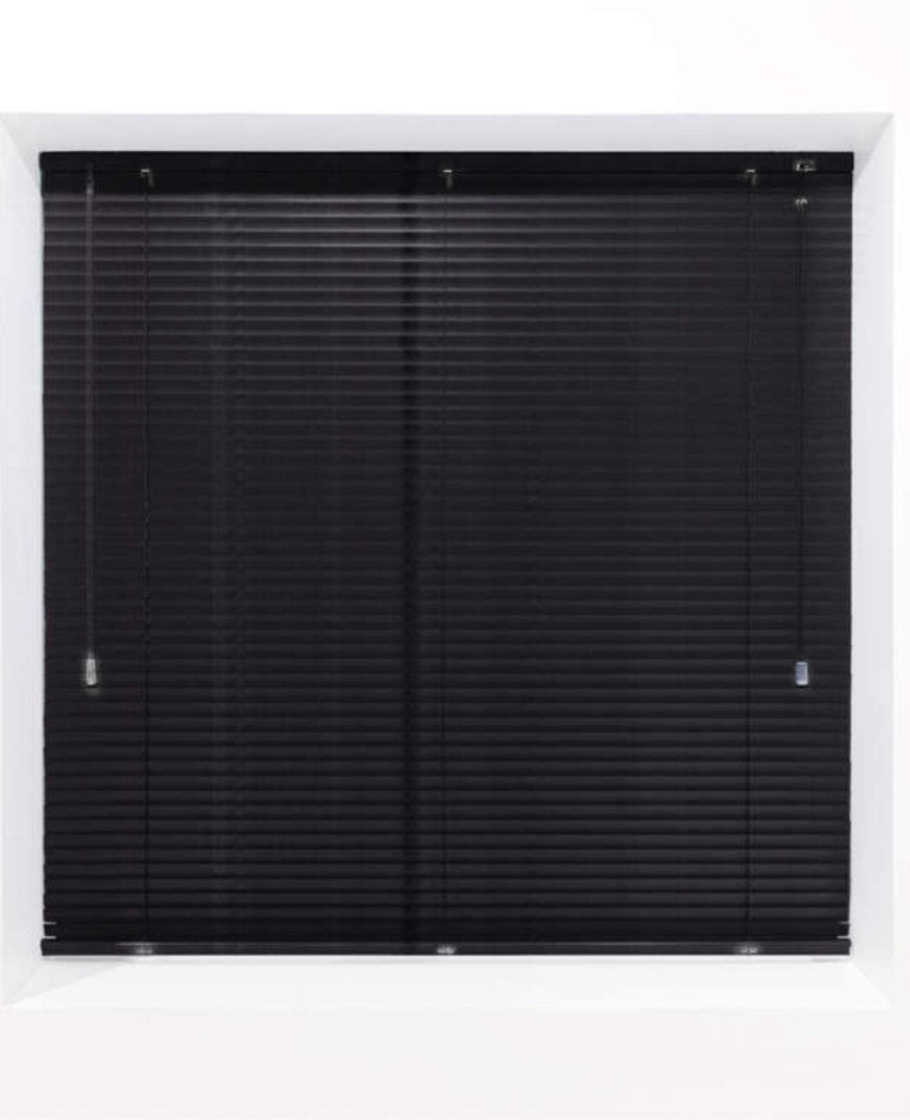 Black Matt 25mm Metal Venetian Blind - Made to Measure