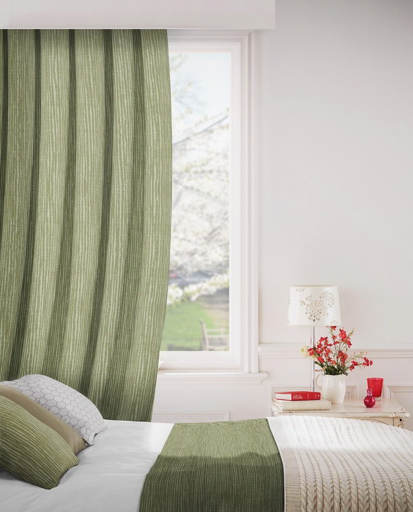 Breeze 208 Fern Green Fire Resistant Curtains