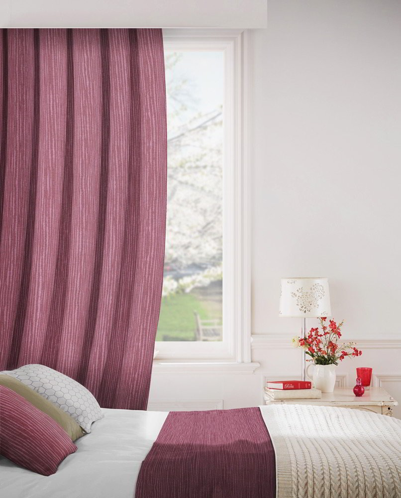 Breeze 615 Berry Fire Resistant Curtains