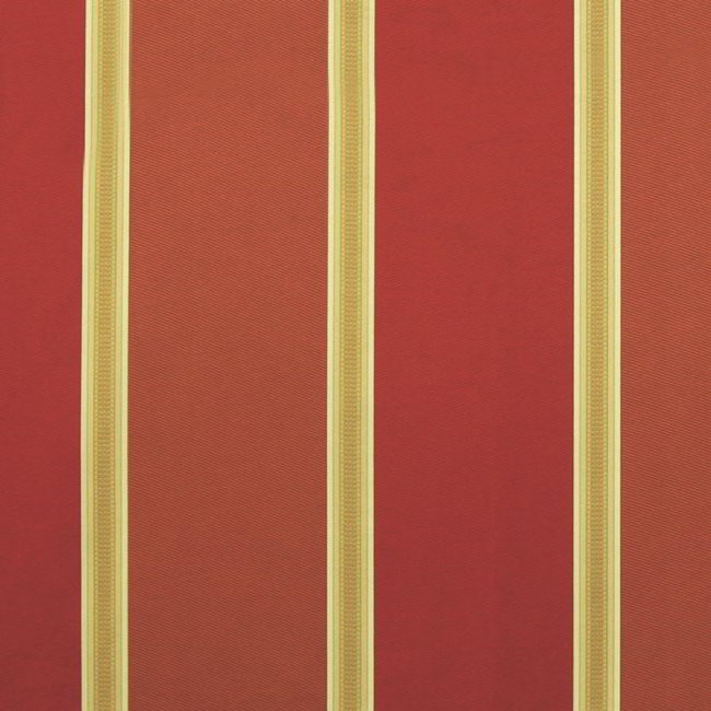 Capital Stripe 445 Henna Crimson Fire Resistant Curtains