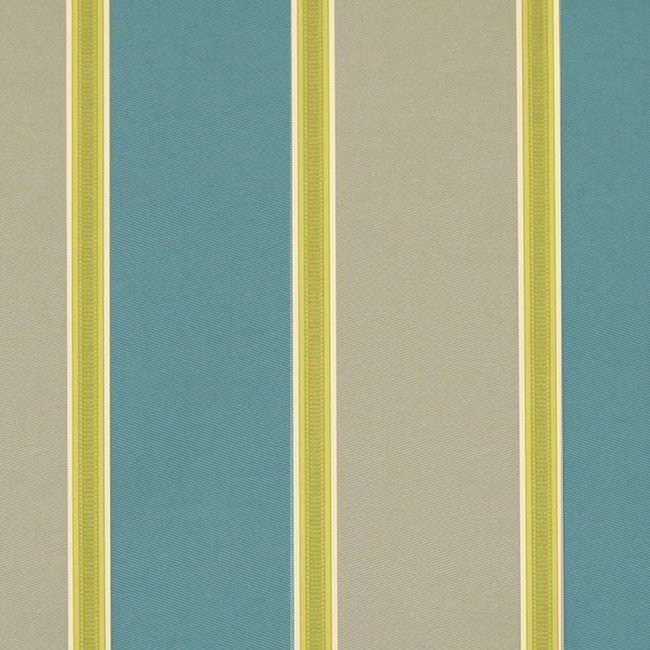 Capital Stripe 289 Teal Latte Fire Resistant Fabric
