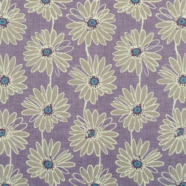 Daisy 114 Lavender Fire Resistant Fabric