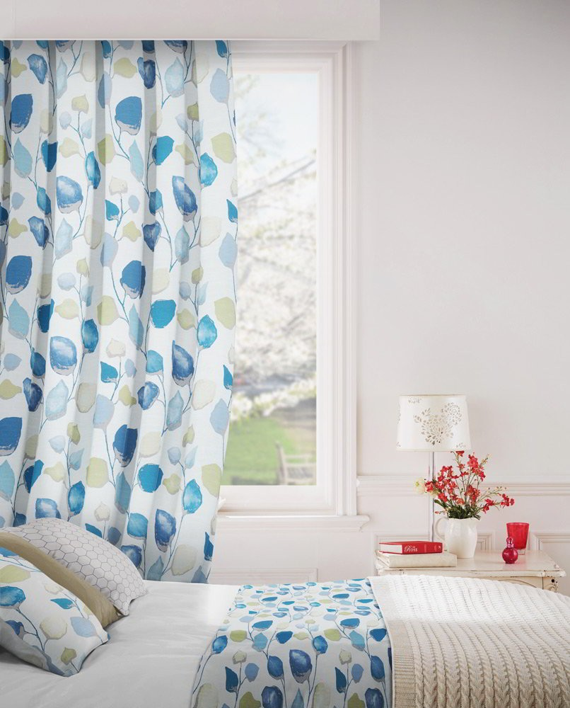 Eden 166 Aqua Lime Fire Resistant Curtains