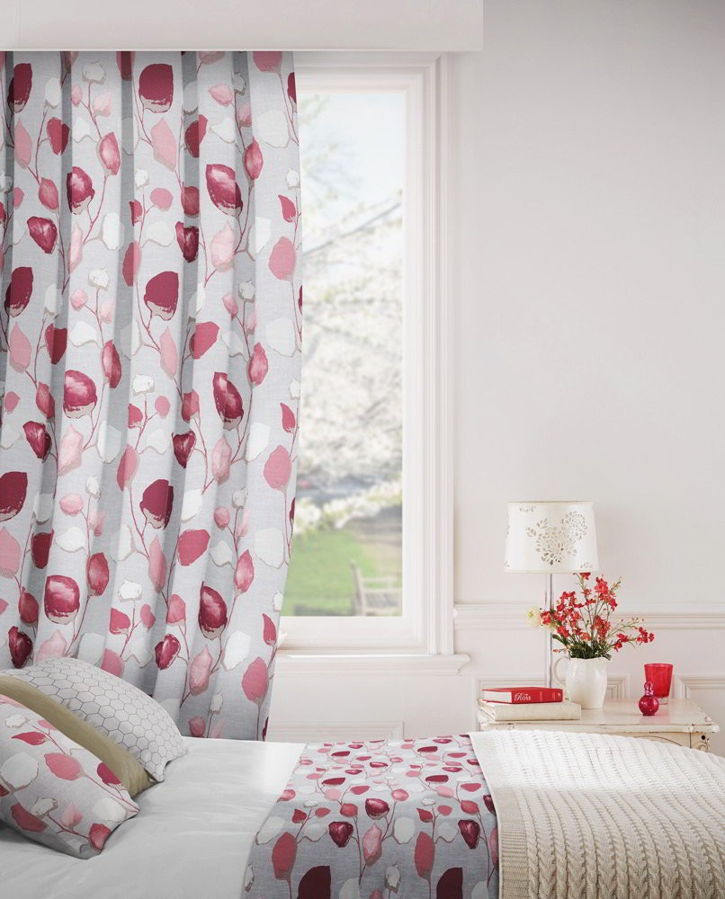 Eden 600 Pink Fire Resistant Curtains
