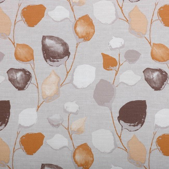Eden 943 Putty Clementine Fire Resistant Fabric