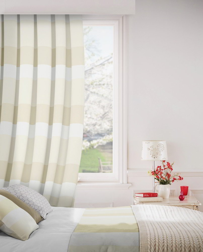 Escape 883 Cream Sand Fire Resistant Curtains