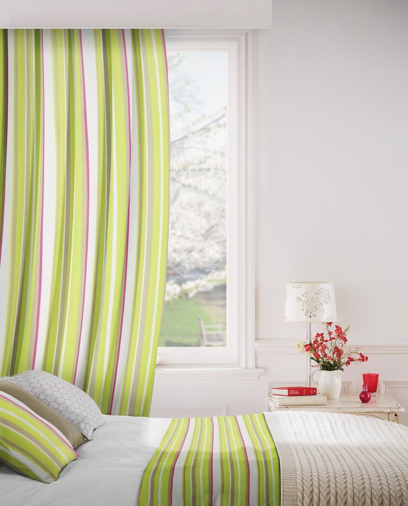 Fiesta 274 Lime Beige Fire Resistant Curtains