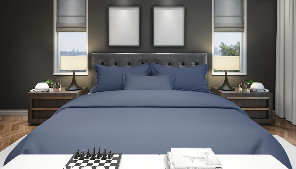 Flame Retardant Bedding BS7175 Navy 19 Options