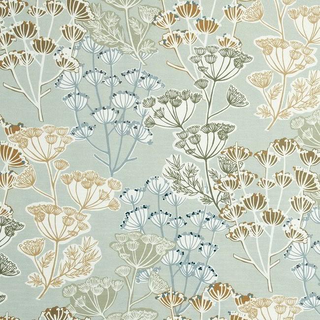 Flourish 253 Cardamom Fire Resistant Curtains