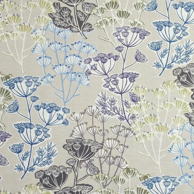 Flourish 729 Mink Pistachio Fire Resistant Fabric